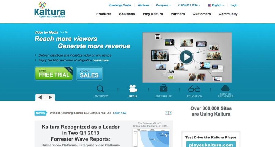 Kaltura website screengrab