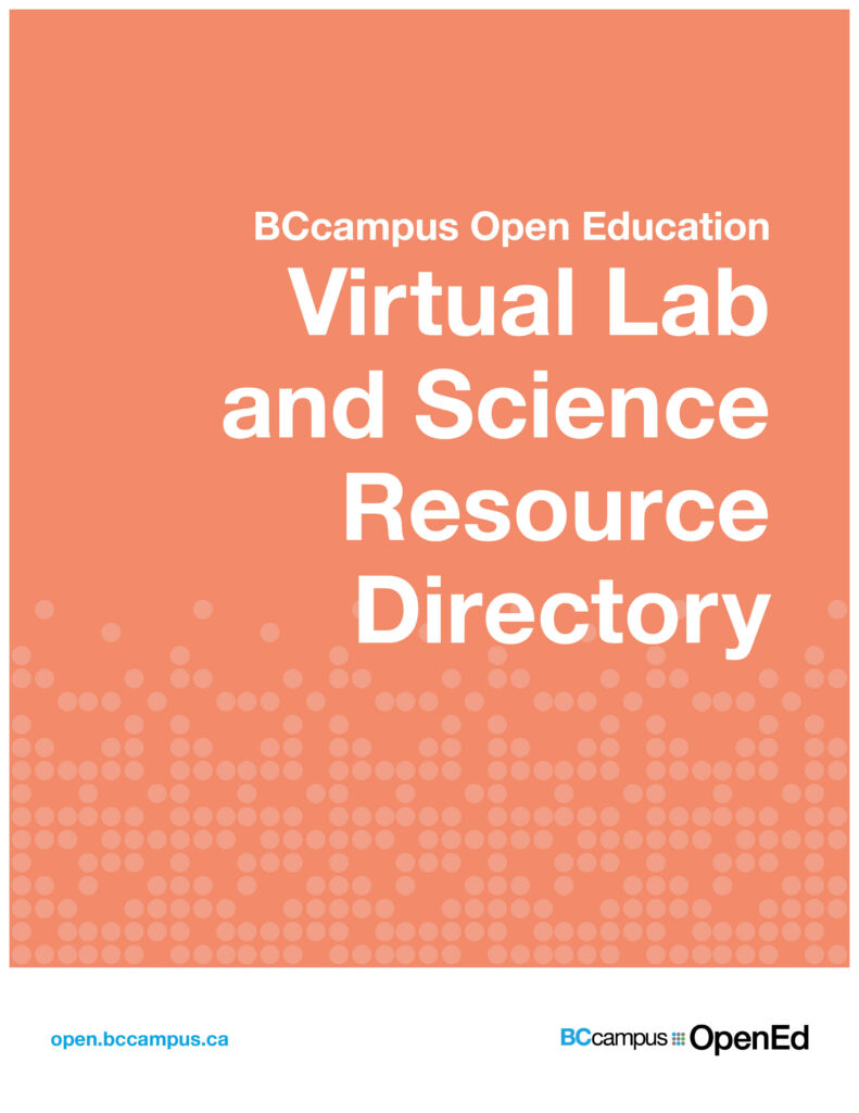 Front cover image of Virtual Lab and Science Resource Directory