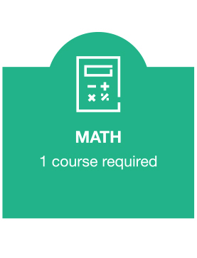 Math - 1 course required