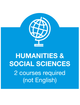 Humanities and Social Sciences - 2 courses required
