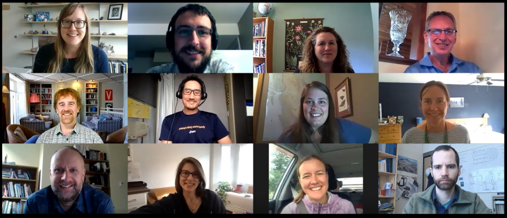 Screenshot shot of the authors meeting in zoom