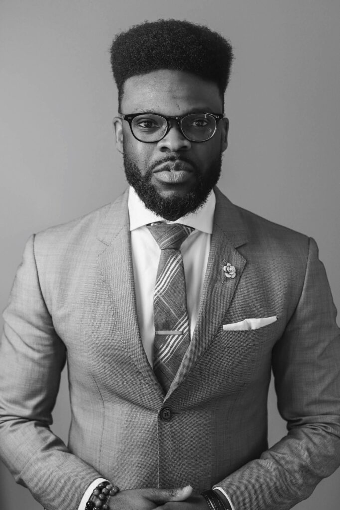 Olaolu Adeleye in suit and tie