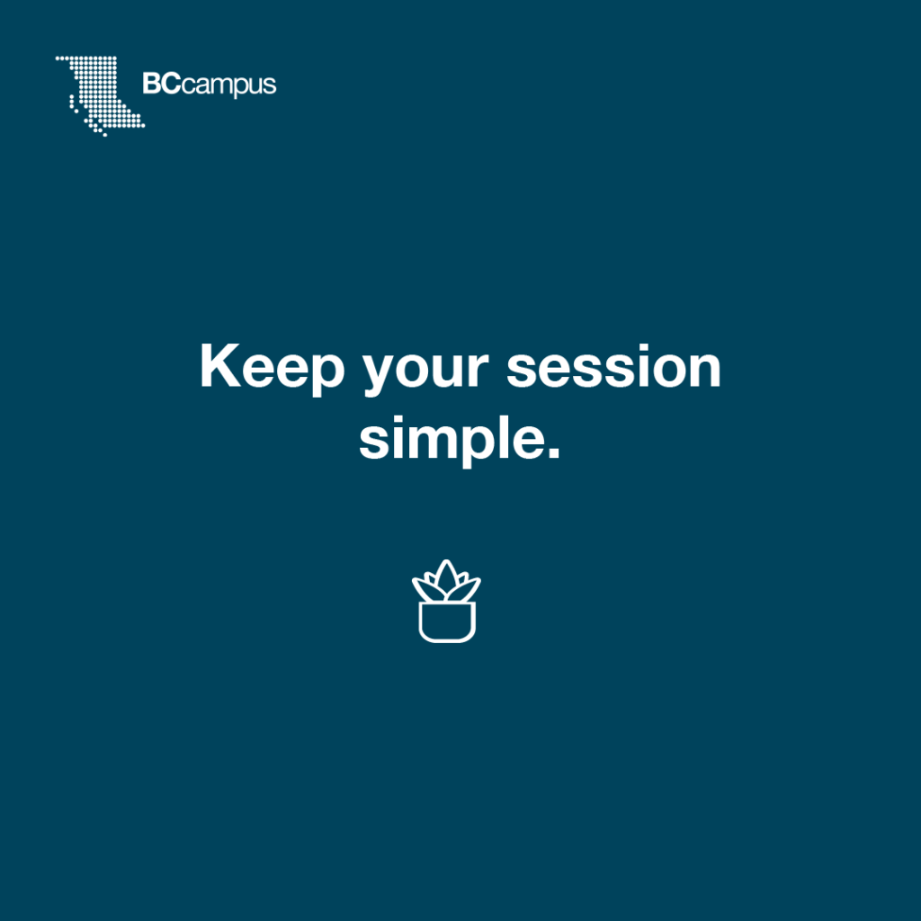 Keep your session simple